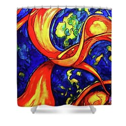 Peaceful Coexistence Shower Curtain by Rae Chichilnitsky