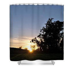 Shower Curtain featuring the photograph Peaceful Country Sunset  by Matt Harang