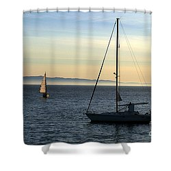 Peaceful Day In Santa Barbara Shower Curtain by Clayton Bruster