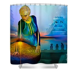Peaceful Discovery Shower Curtain