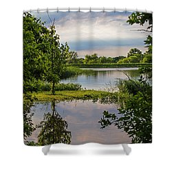 Peaceful Evening Shower Curtain by Alana Thrower
