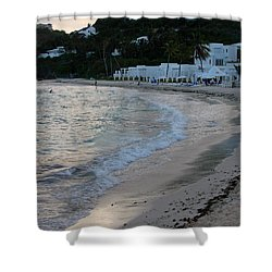 Shower Curtain featuring the photograph Peaceful Evening On Dawn Beach by Margaret Bobb