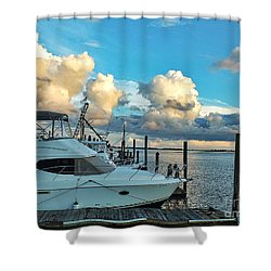 Peaceful Evening Walk  Shower Curtain by Christy Ricafrente