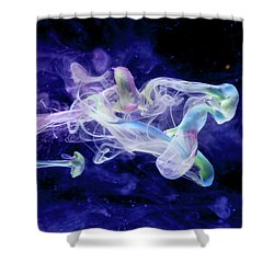 Peaceful Flow - Fine Art Photography - Paint Pouring Shower Curtain