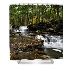 Peaceful Flowing Falls Shower Curtain