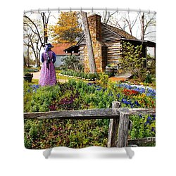 Peaceful Garden Walk Shower Curtain