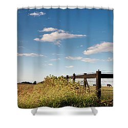 Peaceful Grazing Shower Curtain by David Sutton