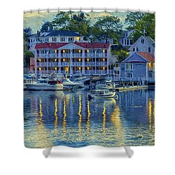 Peaceful Harbor Shower Curtain