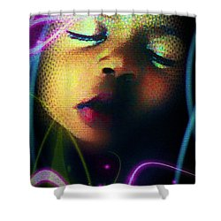 Peaceful Shower Curtain by Iowan Stone-Flowers