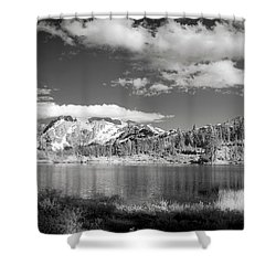 Shower Curtain featuring the photograph Peaceful Lake by Jon Glaser