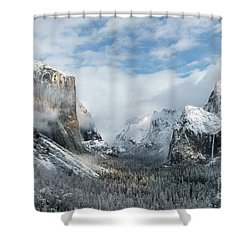 Shower Curtain featuring the photograph Peaceful Moments - Yosemite Valley by Sandra Bronstein