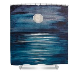 Peaceful Moon At Sea Shower Curtain