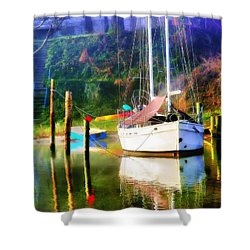 Shower Curtain featuring the photograph Peaceful Morning In The Cove by Brian Wallace
