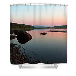 Peaceful Morning On The Hudson Shower Curtain