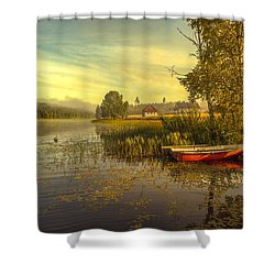 Shower Curtain featuring the photograph Peaceful Morning by Rose-Maries Pictures