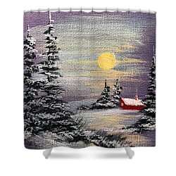 Peaceful Night Shower Curtain