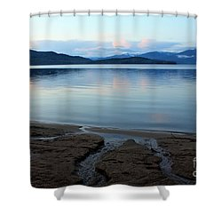 Peaceful Priest Lake Shower Curtain by Carol Groenen