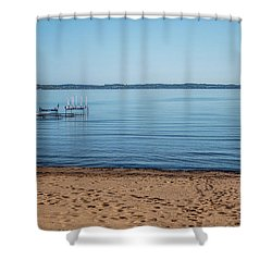 Shower Curtain featuring the photograph Grand Traverse Bay Beach-michigan  by Joann Copeland-Paul