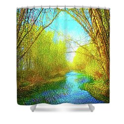 Peaceful River Spirit Shower Curtain by Joel Bruce Wallach