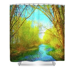 Peaceful River Spirit Shower Curtain