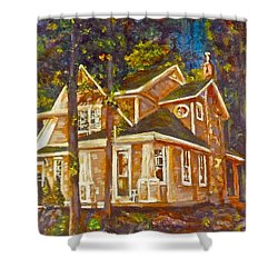 Shower Curtain featuring the painting Peaceful Sanctuary by Claire Bull