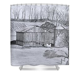 Peaceful Setting  Shower Curtain