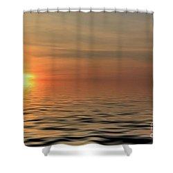 Peaceful Sunrise Shower Curtain