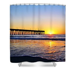 Peaceful Sunrise Shower Curtain