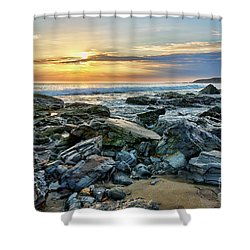 Peaceful Sunset At Crystal Cove Shower Curtain