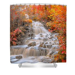 Shower Curtain featuring the photograph Peaceful Waterfall by Rose-Maries Pictures