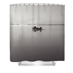 Peacefull Fishing Shower Curtain