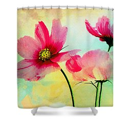 Shower Curtain featuring the digital art Peacefulness by Klara Acel