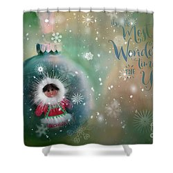 Peace,love,joy Shower Curtain
