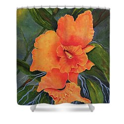 Peach  Blush Orchid Shower Curtain