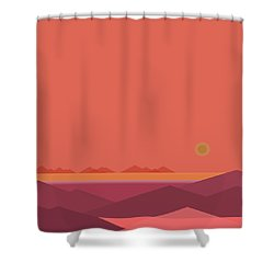 Shower Curtain featuring the digital art Peach Dawn by Val Arie