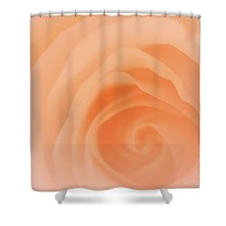 Shower Curtain featuring the photograph Peach Serenity by The Art Of Marilyn Ridoutt-Greene