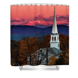 Peacham And White Mtn Sunset Shower Curtain