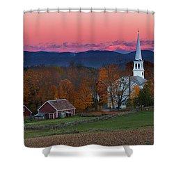 Peacham Village Fall Evening Shower Curtain