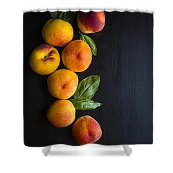 Peaches And  Basil Shower Curtain