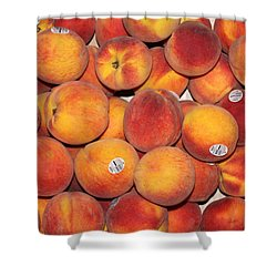 Peaches Shower Curtain by Lauri Novak