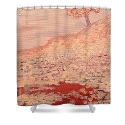 Peachy Day Shower Curtain