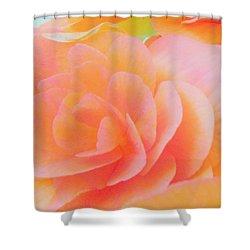 Peachy Perfection Shower Curtain