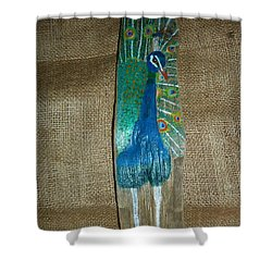 Peacock Shower Curtain by Ann Michelle Swadener