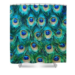 Peacock Feathers Shower Curtain by Nikki Marie Smith