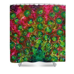 Peacock Impressions Shower Curtain