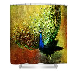 Peacock In Full Color Shower Curtain