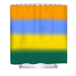 Peacock Inspired - Sq Block Shower Curtain