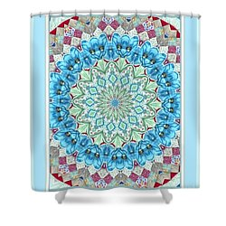 Peacock Medallion Shower Curtain