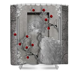 Peacock Purity Shower Curtain