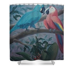 Peacocks In The Jungle Shower Curtain